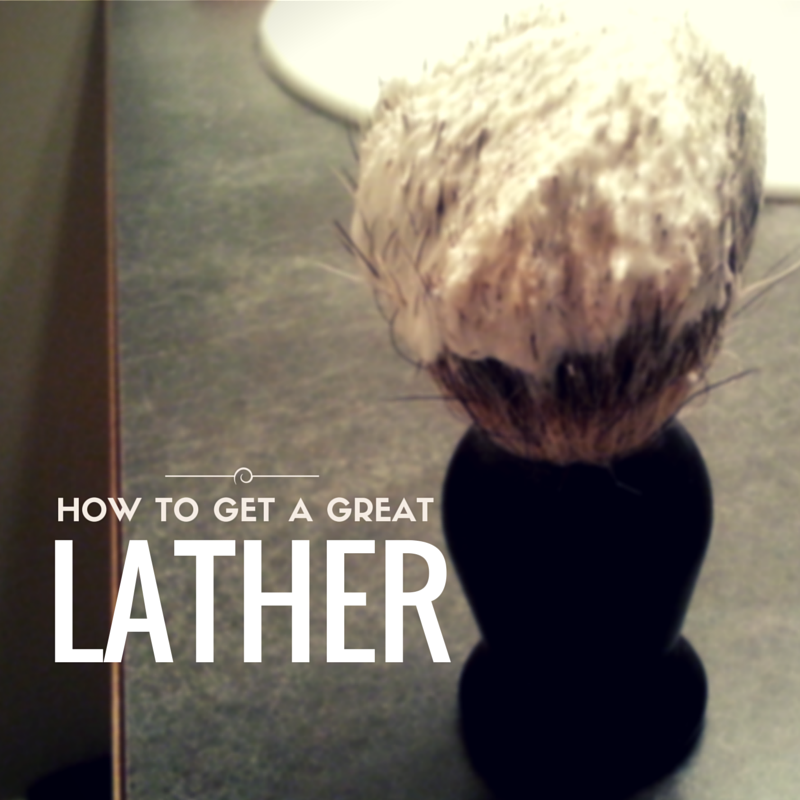 lather homemade shaving soap